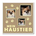 """Themen-Passepartout ""Haustier"""" 40x40 cm | ohne Rahmen"