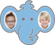 """Motiv-Passepartout ""Elefant"""" Außenmaß: 35x28 cm | mehrlagiger Passepartoutkarton"