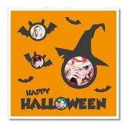 """Themen-Passepartout ""Halloween"""" 40x40 cm | ohne Rahmen"