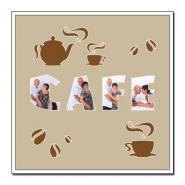 """Themen-Passepartout ""Kaffee"""" 40x40 cm | ohne Rahmen"