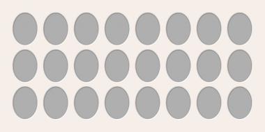 Ovale Ausschnitte 50x100 cm