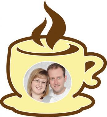 """Motiv-Passepartout ""Kaffeetasse"""" Außenmaß: 27x29 cm   mehrlagiger Passepartoutkarton"