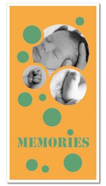 """Themen-Passepartout ""Memories"""" 30x60 cm   ohne Rahmen"