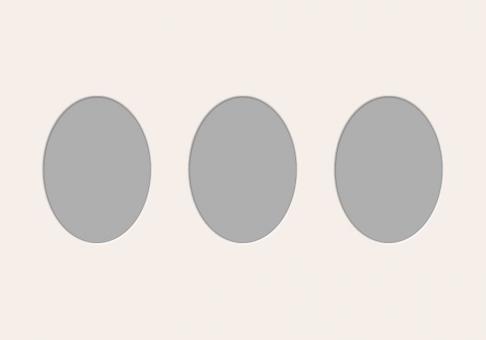 Ovale Ausschnitte 35x50 cm
