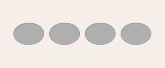Ovale Ausschnitte 25x60 cm