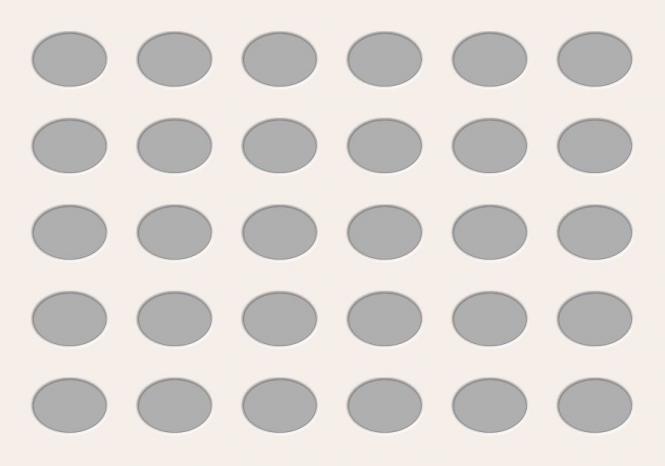 Ovale Ausschnitte 70x100 cm