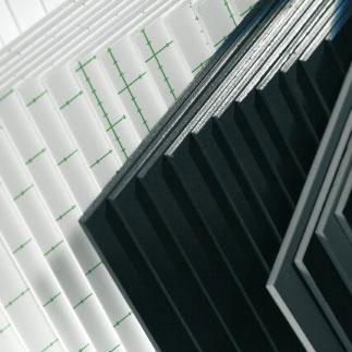 Selbstklebende Leichtschaumplatte, 5 mm Schwarz