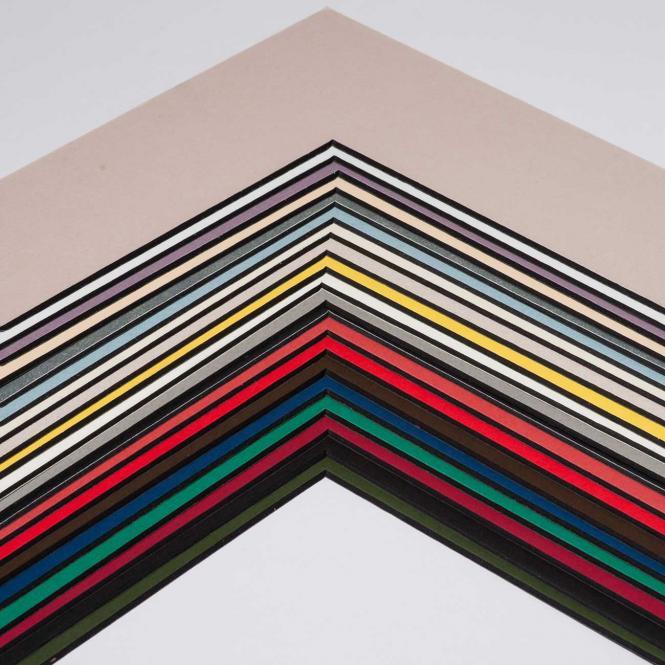 Fertig-Passepartout -  BlackCore 1,4 Wei? | 13x18 cm (9x13 cm)