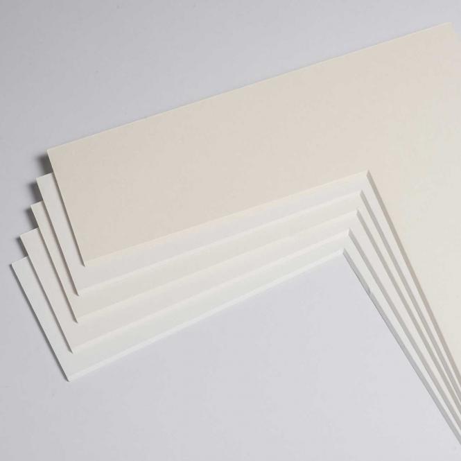 Fertig-Passepartout - Museumskarton 1,6 mm White   13x18 cm (9x13 cm)